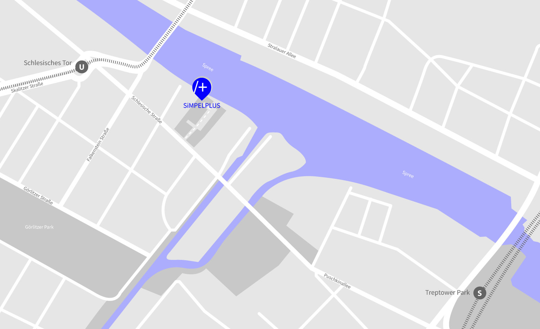 Simpelplus Designagentur Berlin Kreuzberg Map Lageplan